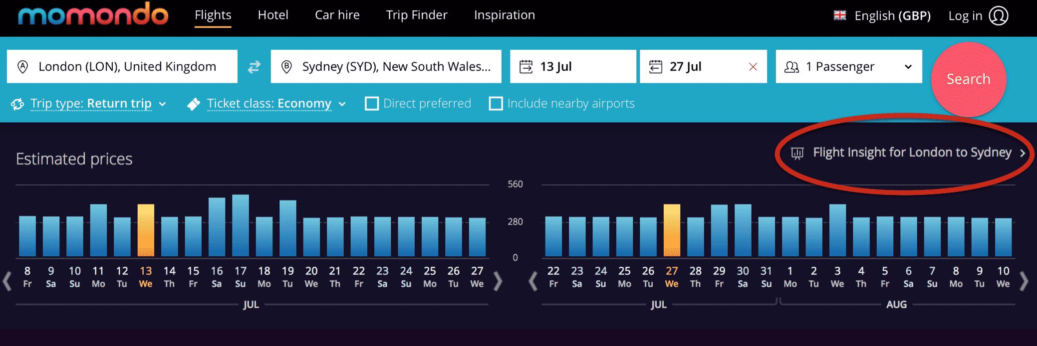 flight insight data